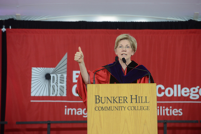 Elizabeth Warren at Commencement
