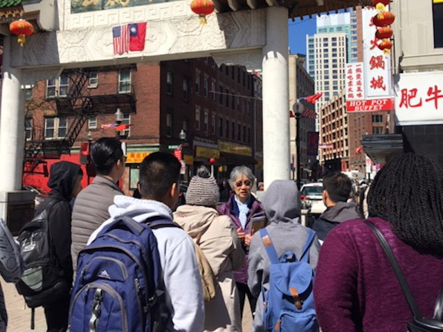 Class tour of Chinatown in Boston - Year 3