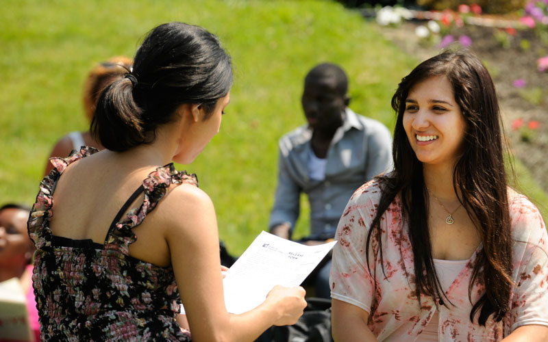 BHCC students talking outside
