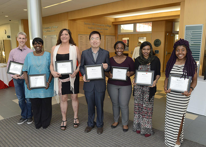 Foundation Scholars posing with certificates