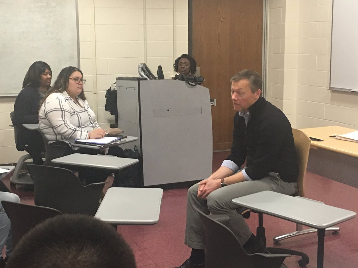 Matthew Desmond with BHCC Students
