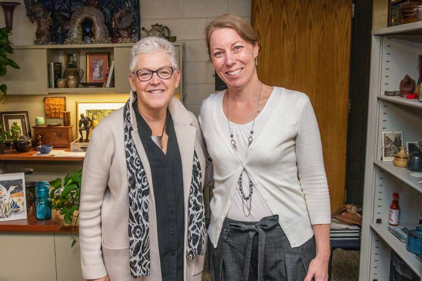 Gina McCarthy with an attendee