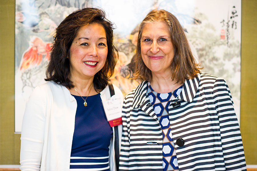 Selina Chow and Julie Burros