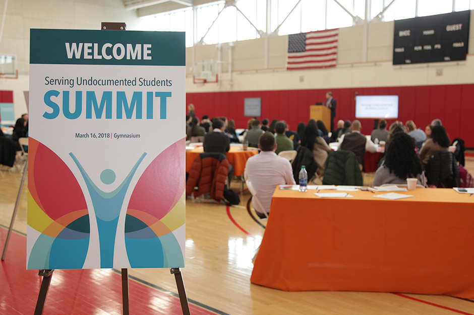 Entry table at the Serving Undocumented Students Summit