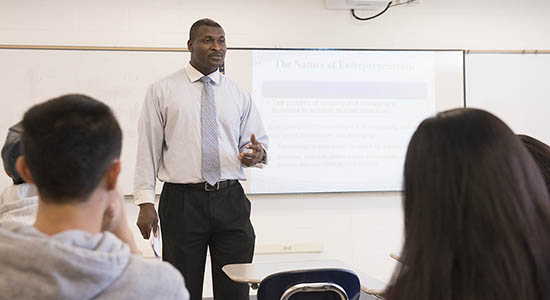 instructor in classroom