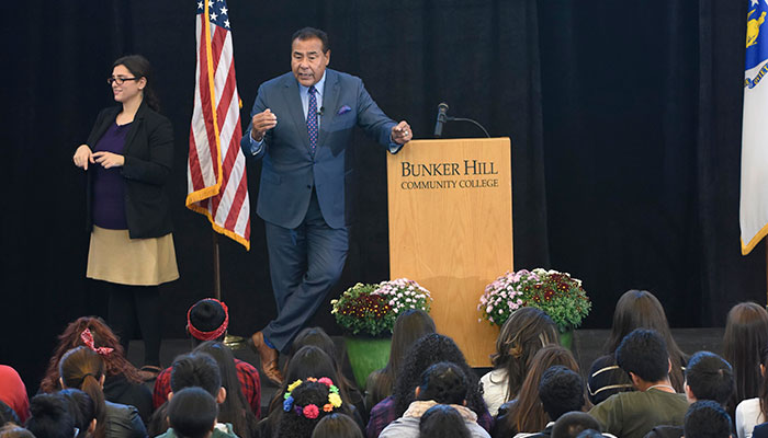 John Quinones visited BHCC on October 14, 2016 and spoke as part of Hispanic Heritage Month
