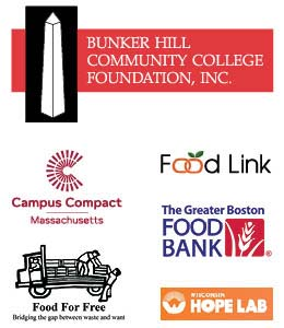 Food for Thought Sponsors.  Bunker Hill Community College Foundation, Inc.  Campus Compact Massachusetts.  Food for Free - Bridging the gap between waste and want.  Food Link.  The Greater Boston Food Bank.  Wisconsin Hope Lab.
