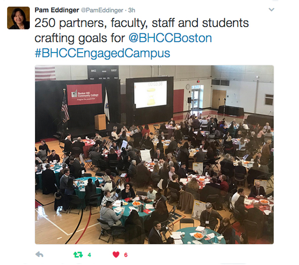 engaged campus tweet from event