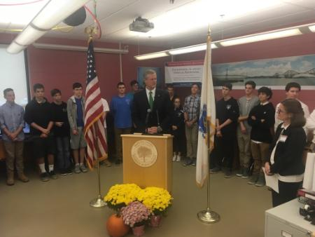 Governor Baker announcing Workforce Skills Capital Grant 10.13.2017