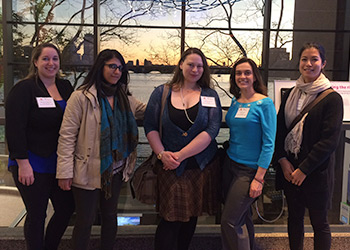 BHCC students at the Women and Girls in STEM Networking Evening