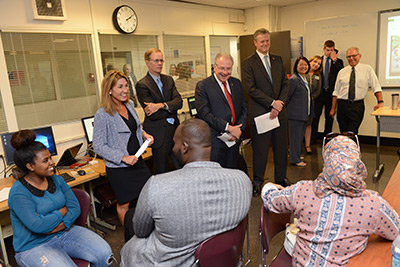 Governor Baker visits STEM at BHCC
