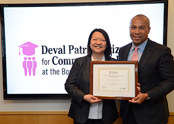 Deval Patrick and Pam Eddinger