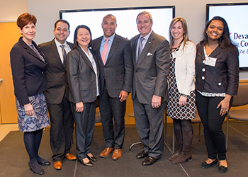 BHCC staff and students with Deval Patrick