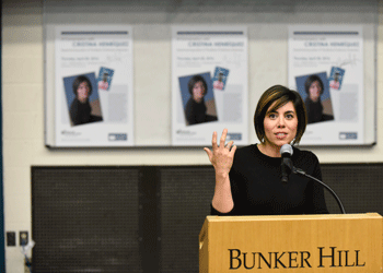 Cristina Henriquez Speaks at  Bunker Hill Community College