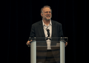 Jerry Greenfield of Ben & Jerry's  speak to Bunker Hill students