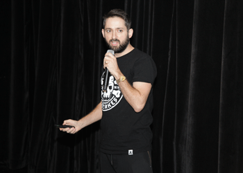 Johnny Cupcakes speaks to Bunker Hill students on how to succeed