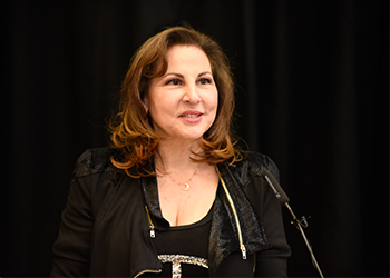 Kathy Najimy at the Women's History month event