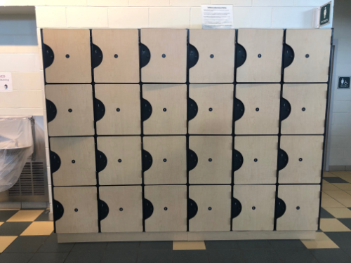 Individual lockers provided to guests