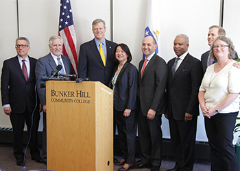 Pam Eddinger, Governor Baker and guests