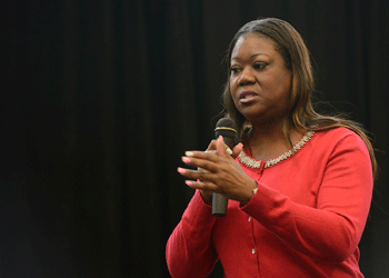Sybrina Fulton at difficult dialog event