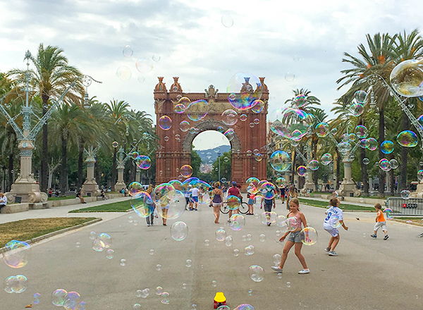 2016 Student Photo Contest Best Study Abroad Photo:  View of Arc de Triomf; Barcelona, Spain.