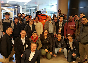 BHCC students posing at Google offices