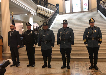 Officers at the Massachusetts State Police Awards Ceremony